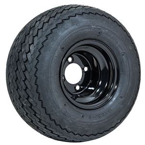 """Picture of A19-142 8"""" GTW Topspin Tire 18x8.5-8 & 8x7 Centered Black Steel Wheel Assembly"""