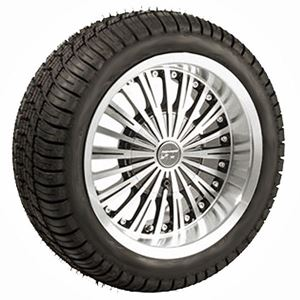 """Picture of A19-143 T&W Combo 12"""" Swagger Wheel on Lo-Pro Street Tire"""