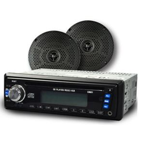 Picture of 13-A09 Madjax CD MP3 Multimedia Receiver Radio w/ 6 inch Speakers
