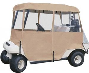 Picture of 10740 Enclosure 4 sided Tan fits Club Car, Ezgo, Yamaha