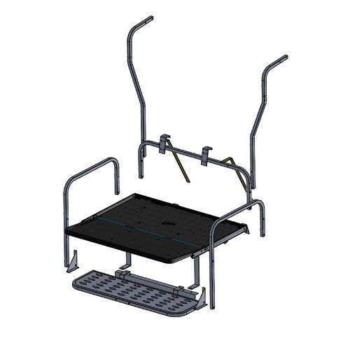 Picture of 01-016 Madjax Genesis 150 Rear Seat Frame Only – Fits Club Car DS (1982-UP)
