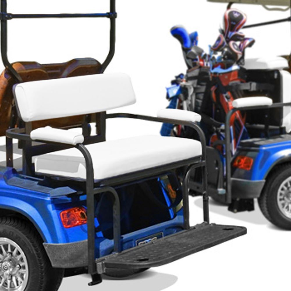 18157 Club Car Precedent 2-in-1 White Rear Seat and Bag Rack (Years ...