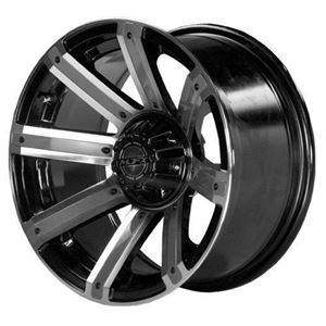 "Picture of 19-084 12"" MJFX Avenger Machined & Black Wheel  (Shown with Optional Color Inserts sold separately)"