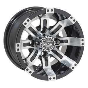 Picture of 19-128 GTW Tempest 10x7 Machined Black Wheel