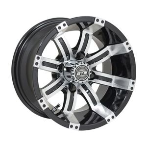 Picture of 19-135 GTW Tempest 12x7 Machined Black Wheel