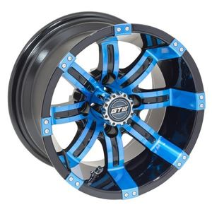 Picture of 19-137 GTW Tempest 12x7 Black/Blue Wheel
