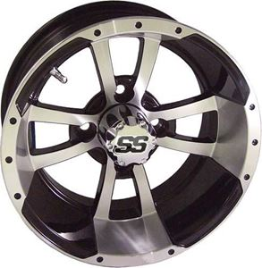 """Picture of 40814 (19-114)Storm Trooper 12"""" Machined/Black Wheel W/SS Cap (3:4 Offset)"""