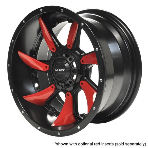 Picture of 19-185 MJFX 14x7 Blackhawk Wheel, Black Satin with available color inserts (sold separately)
