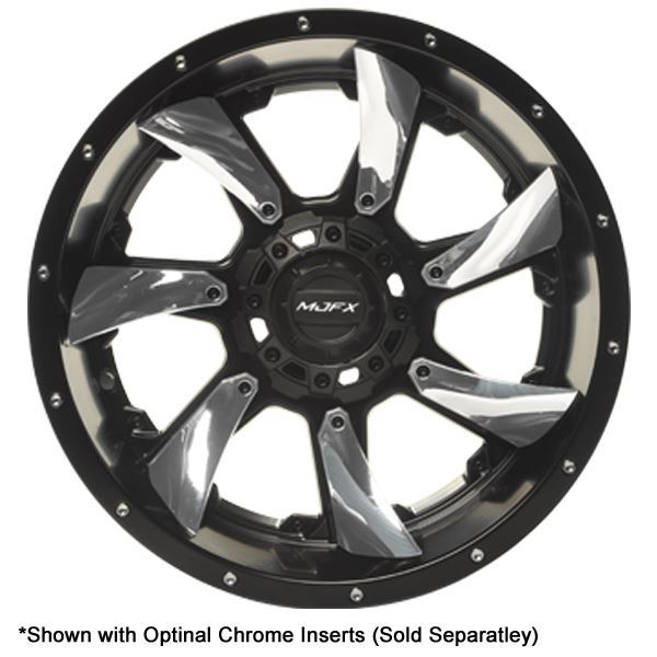 Picture of 19-185-CHR MJFX Directional Chrome Inserts For 14x7 Blackhawk Wheel