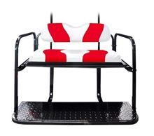 Picture of K01-016-21 DS TWO TONE REAR FLIP SEAT  WHITE W/RED STRIPE