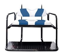 Picture of K01-016-28 DS TWO TONE REAR FLIP SEAT WHITE W/BLUE STRIPE