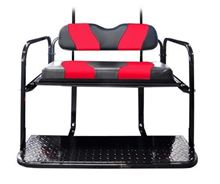 Picture of K01-016-7 DS TWO TONE REAR FLIP SEAT  BLACK W/RED STRIPE