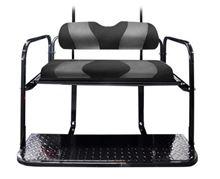 Picture of K01-016-103 DS TWO TONE REAR FLIP SEAT BLACK W/ DK GRAY CARBON STRIPE