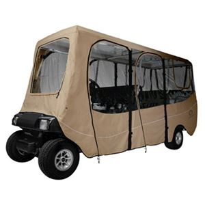 Picture of 2031 Classic Accessories Deluxe Khaki 6-Passenger Enclosure (Universal Fit)