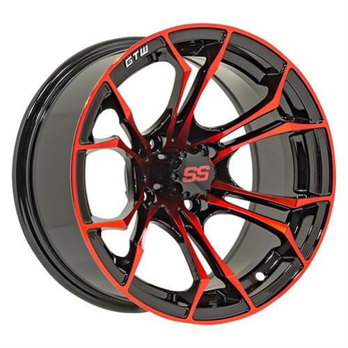 "Picture of 19-219 12"" GTW Spyder Wheel – Black with Red Accents"