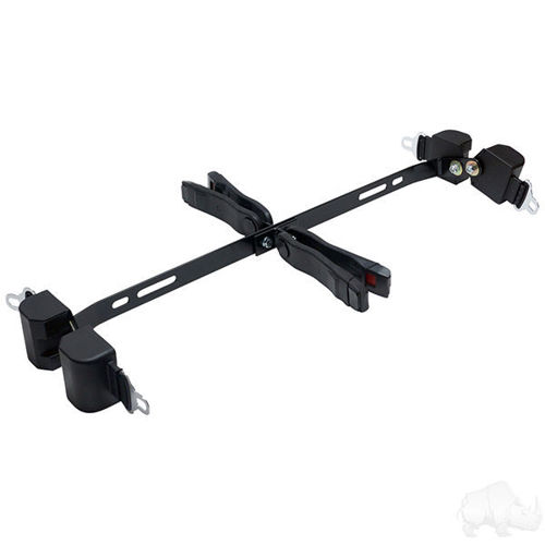 """Picture of SEAT-2011 Deluxe Seat Belt Kit includes: (4) 56"""" Retractable Seat Belts, Bracket and Hardware"""